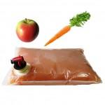Натуральный яблочно-морковный сок прямого отжима (3 л,пакет)