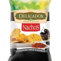 Кукурузные чипсы с кусочками оливок и паприкой  (150 гр.)